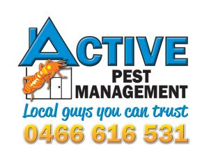 Active Pest Management Logo Tag Phone on white